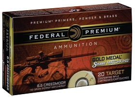 6.5 Creedmoor 140GR Federal Gold Medal Sierra Match King